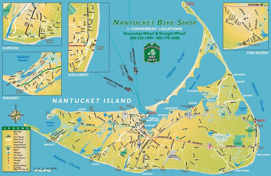 best bike routes on Nantucket Island