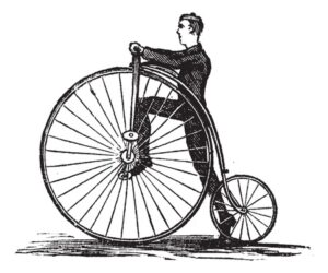 Penny-Farthing Illustration
